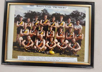 Reserve Grade Premiers 2003